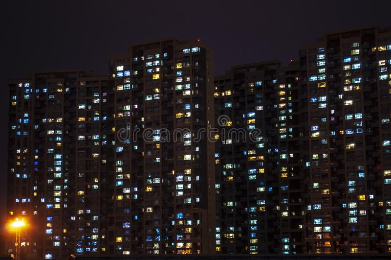 Horde het Fonkelen Lichten stock fotografie