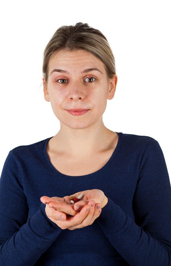 Hordeolum sur la paupière supérieure Infection virale images libres de droits
