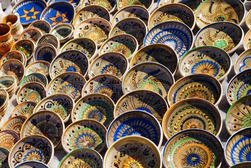 Horezu Traditioneel Aardewerk Royalty-vrije Stock Afbeeldingen
