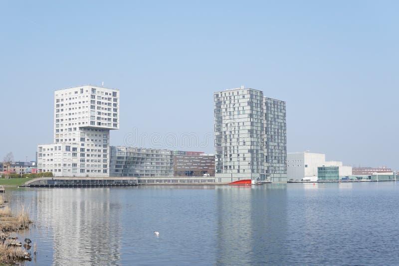 Horisont av Almere, Nederländerna arkivfoto