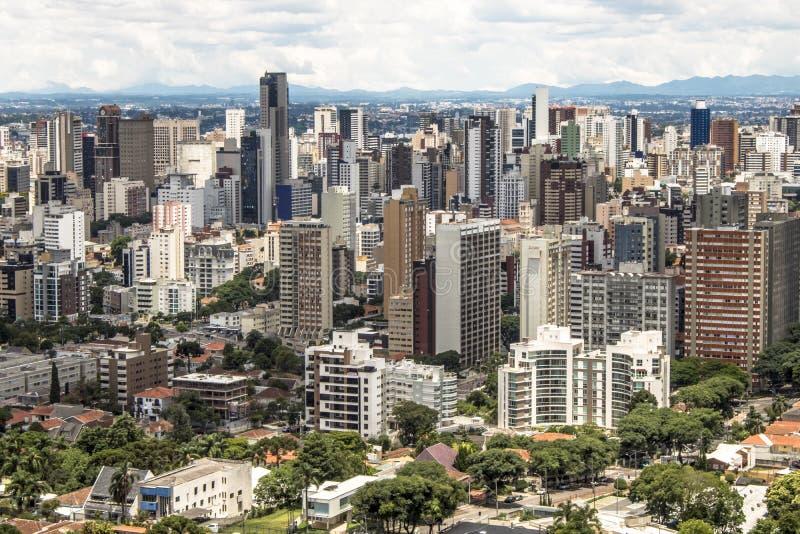 Horisont av Curitiba royaltyfri foto