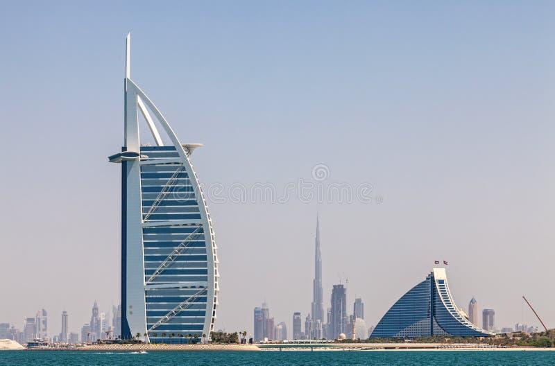 Horisont av Dubai royaltyfri foto