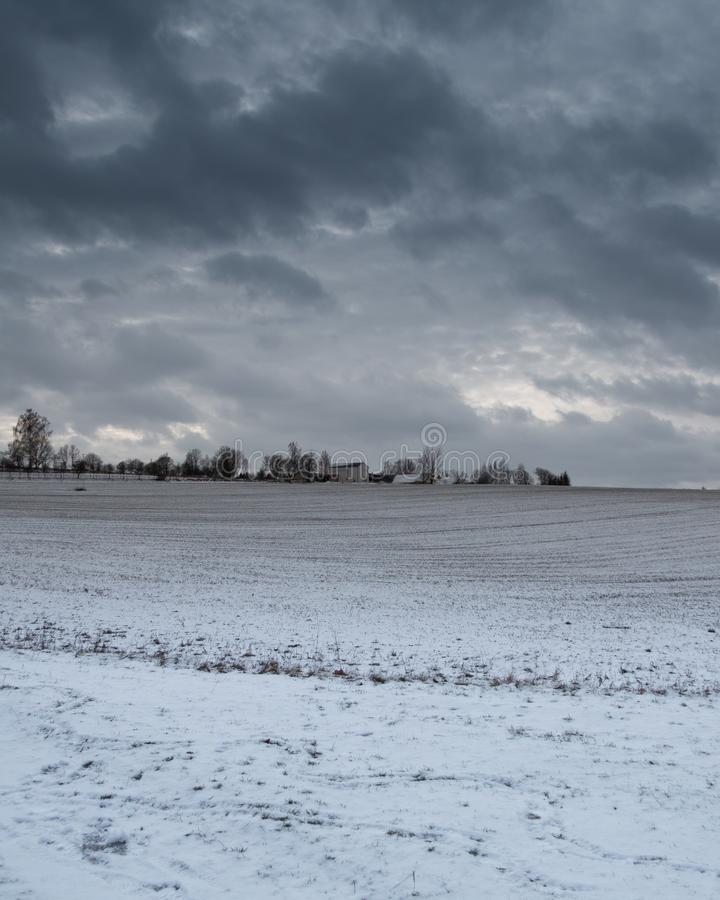 Horisont av en by fotografering för bildbyråer