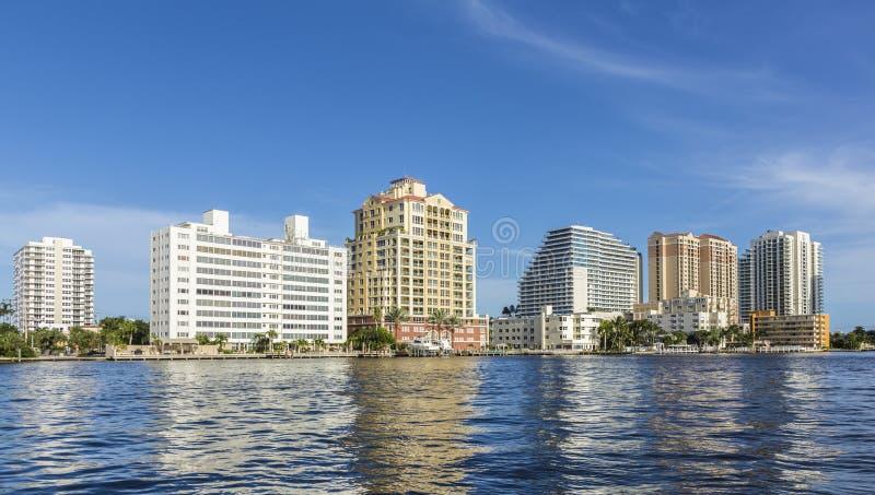Horisont av Fort Lauderdale arkivbild