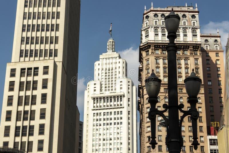 Horisont av i stadens centrum Sao Paulo royaltyfri foto