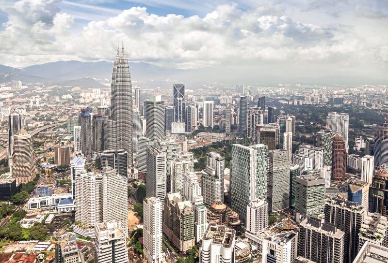 Horisont av Kuala Lumpur, Malaysia arkivfoton