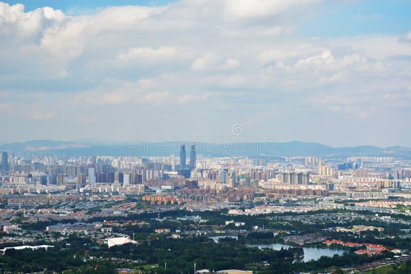 Horisont av Kunming royaltyfri foto