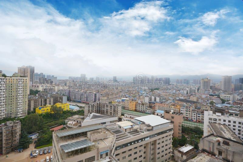 Horisont av Kunming royaltyfria bilder