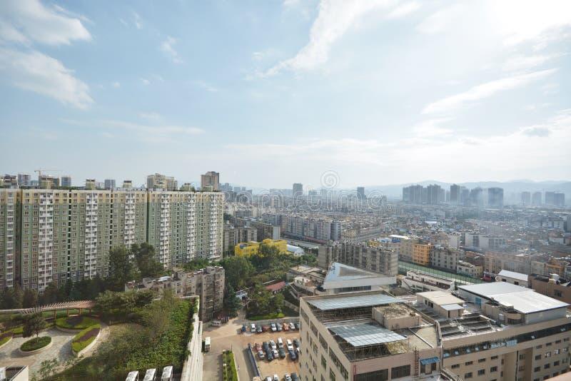 Horisont av Kunming arkivfoton