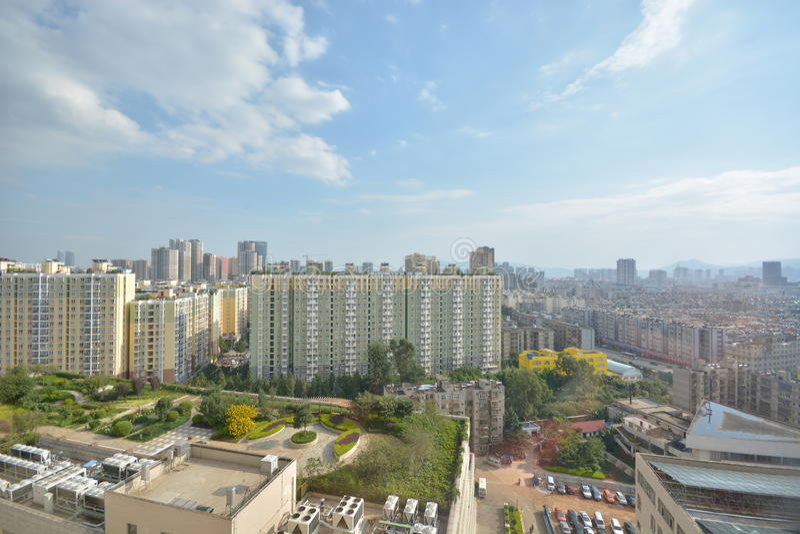 Horisont av Kunming royaltyfria foton