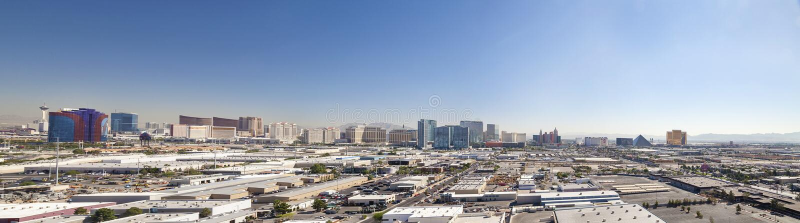 Horisont av Las Vegas royaltyfri fotografi