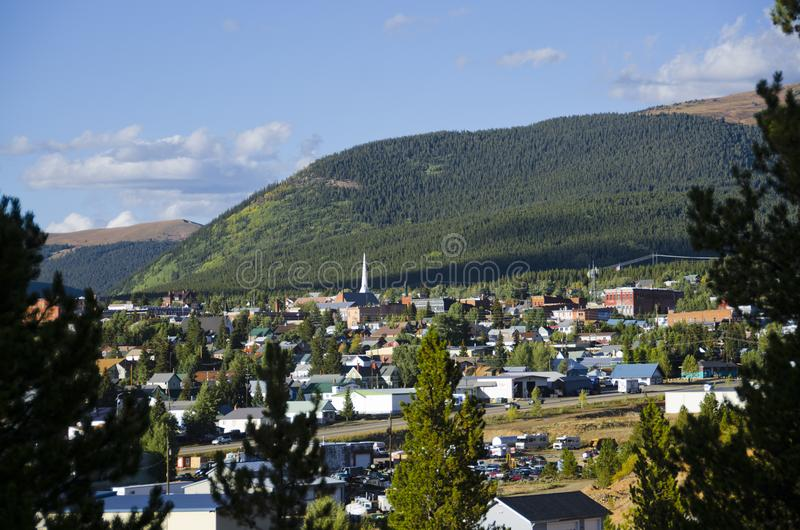 Horisont av Leadville, Colorado royaltyfri foto