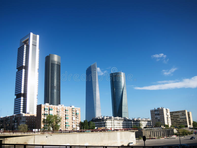 Horisont av Madrid royaltyfria foton