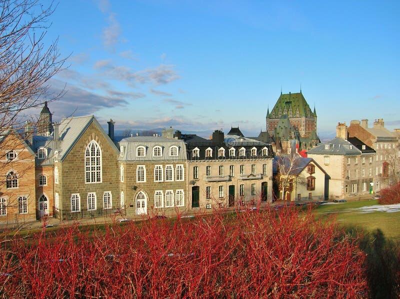 Horisont av Quebec City Kanada royaltyfria bilder