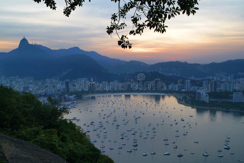 Horisont av Rio de Janeiro, Brasilien arkivbilder