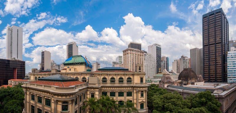 Horisont av Rio de Janeiro Downtown Buildings arkivbild