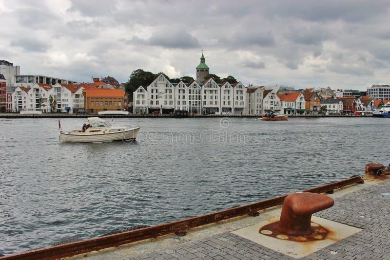 Horisont av Stavanger, Norge arkivbilder