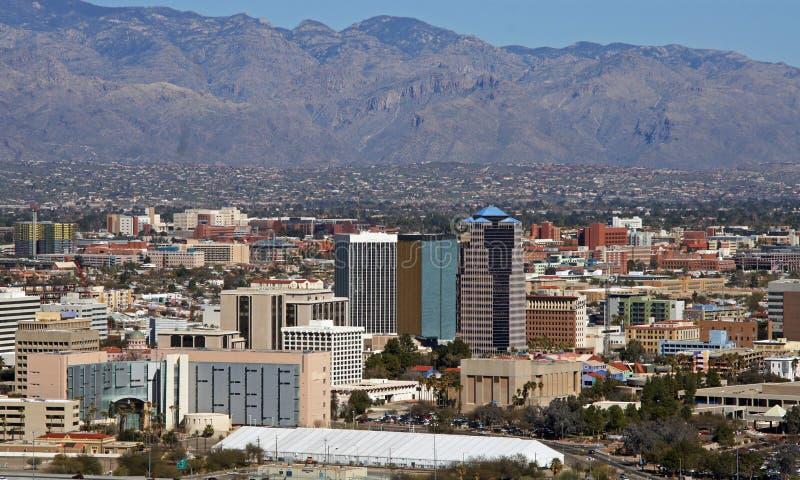 Horisont av Tucson Arizona arkivfoton