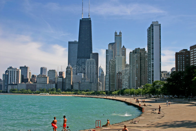 horisont för 3 chicago arkivbilder