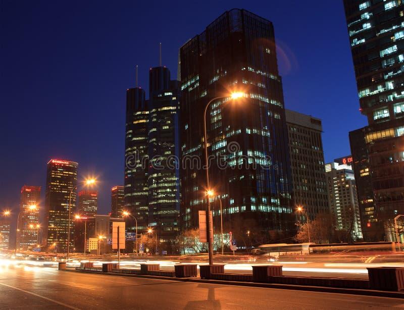 horisont för område s för beijing affär central royaltyfria foton
