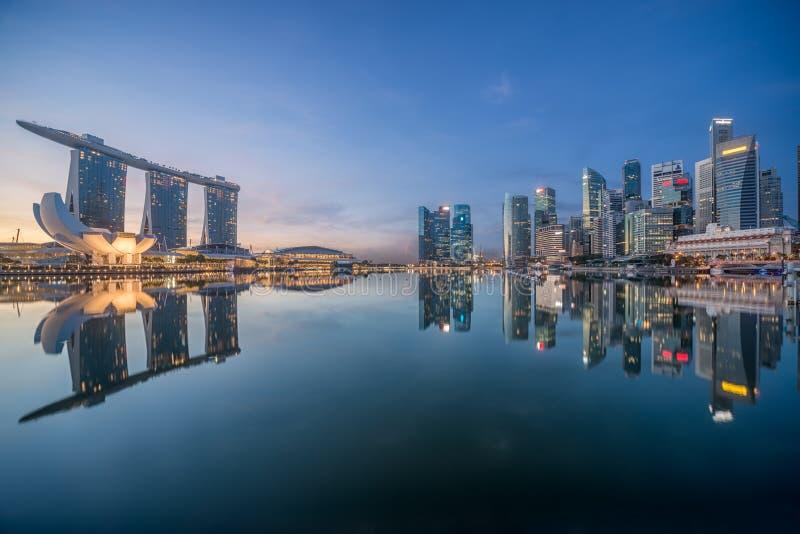 Horisont för Singapore morgonstad royaltyfri foto