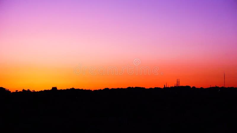 Horisont för solnedgång n royaltyfri bild