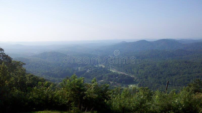 Horisont från georgia berg arkivbilder