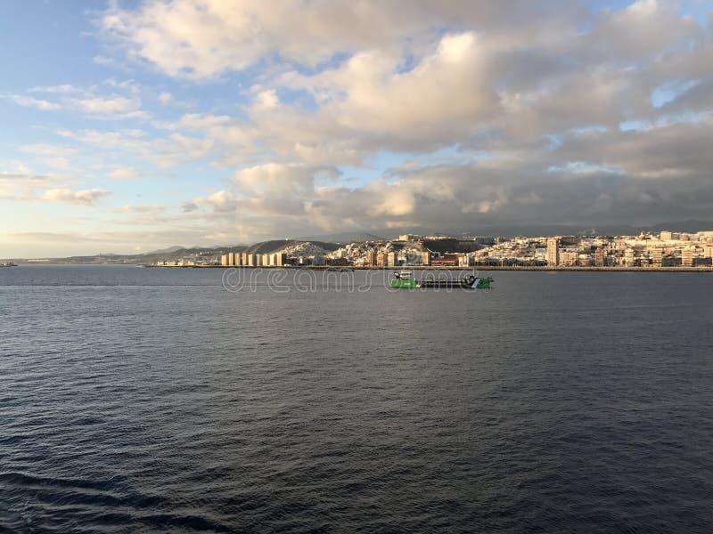 Horisont från Las Palmas royaltyfria bilder