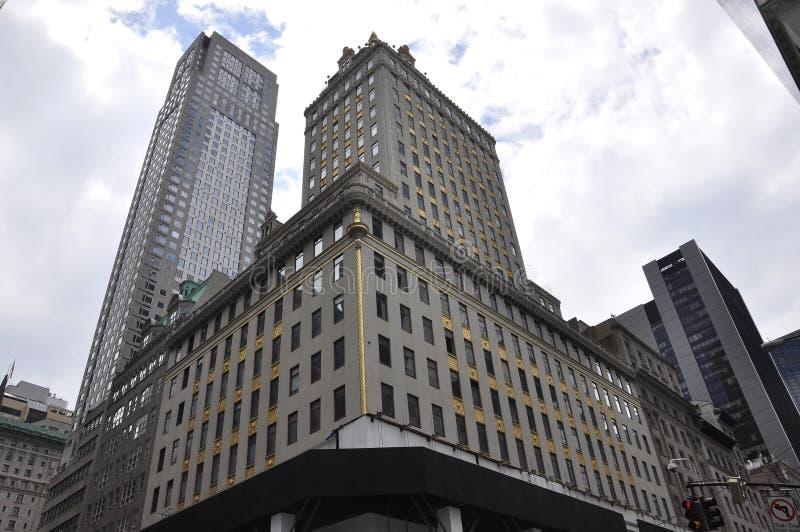 Horisont från storslagen arméPlaza i midtownen Manhattan New York City från Förenta staterna arkivfoto
