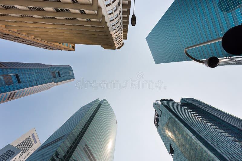 Horisont i i stadens centrum Singapore arkivbilder