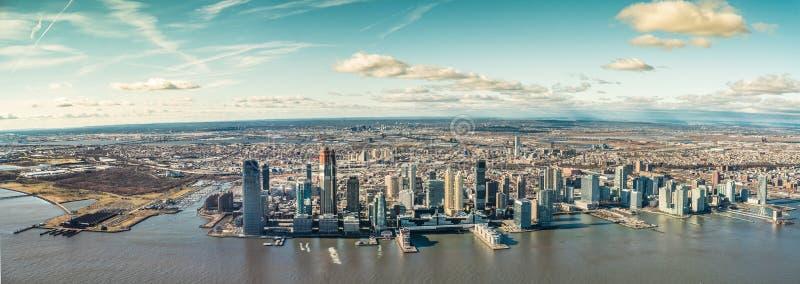 Horisont Jersey City i Uen S jersey nytt tillstånd arkivfoton