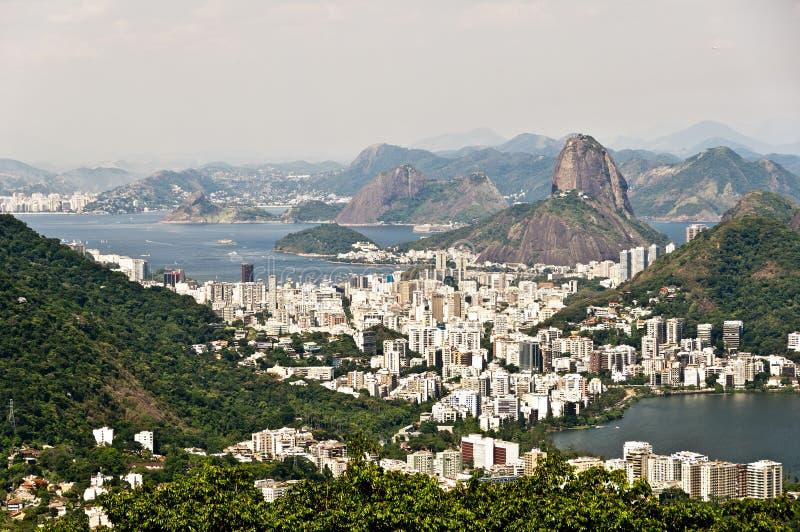 Horisont Rio de Janeiro, Brasilien royaltyfri fotografi