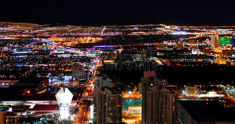 horisont vegas för stadslaspanorama arkivfoton