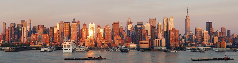 horisont york för stadsmanhattan ny panorama royaltyfri fotografi