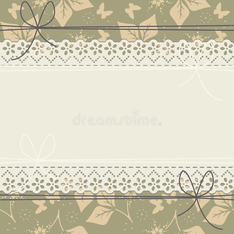 Horisontal snöra åt ramen med vårsidor, blommor och butterflie vektor illustrationer