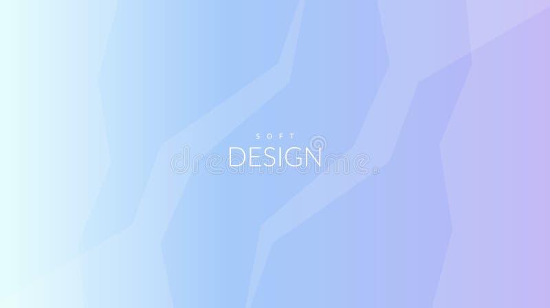 Horisontalbakgrund för suddig mjuk färglutning royaltyfri illustrationer