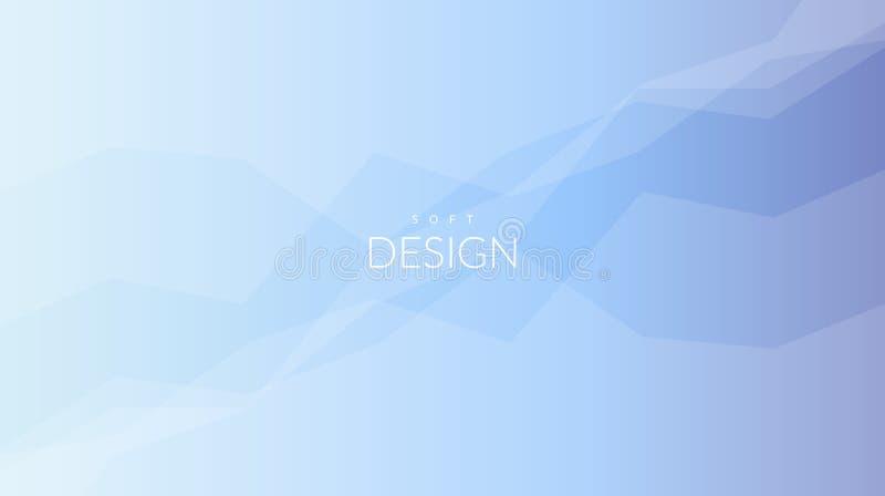 Horisontalbakgrund för suddig mjuk färglutning stock illustrationer