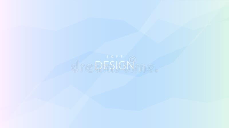 Horisontalbakgrund för suddig mjuk färglutning vektor illustrationer