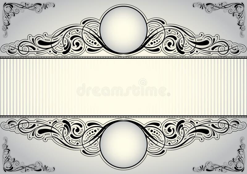 Horisontalbakgrundsdesign stock illustrationer