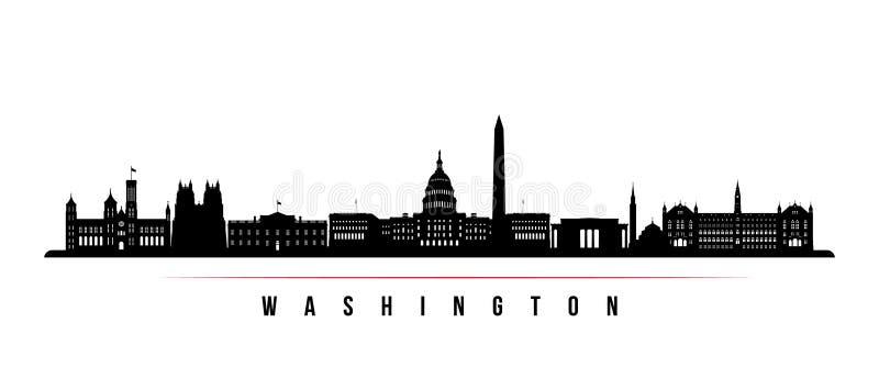 Horisontalbaner för Washington stadshorisont royaltyfri illustrationer