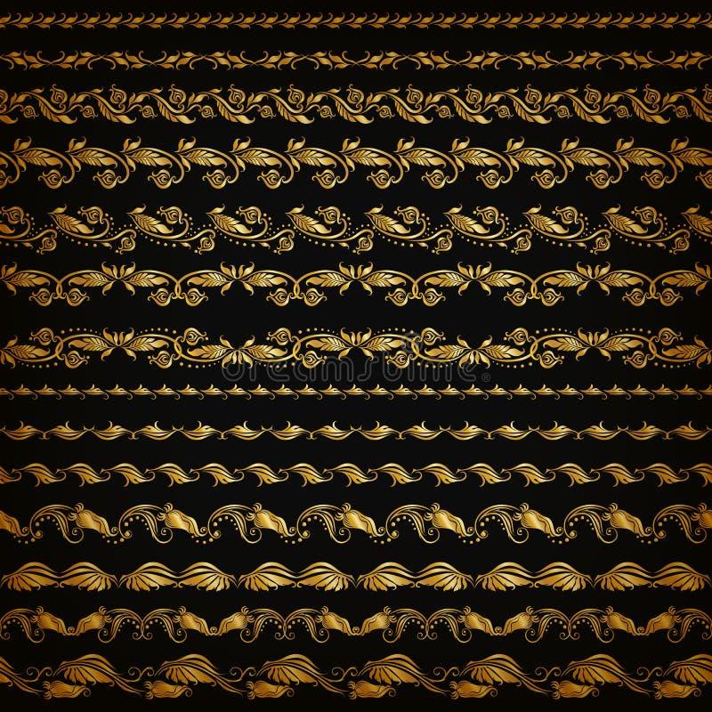 Horisontalbeståndsdelgarneringvektor royaltyfri illustrationer