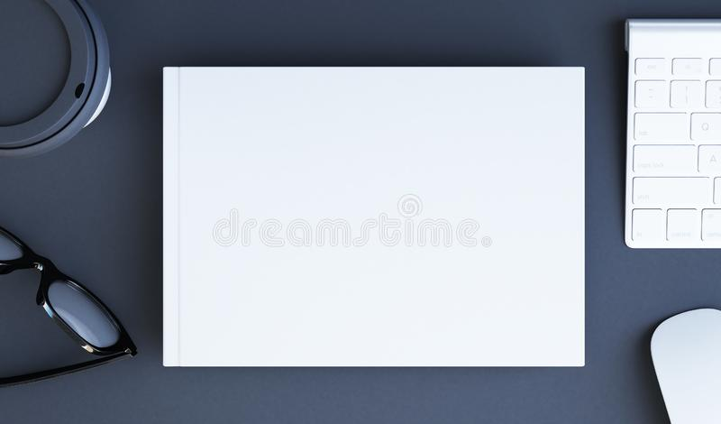 horisontalbokmodell stock illustrationer
