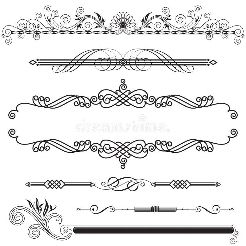 horisontaldekorativt royaltyfri illustrationer