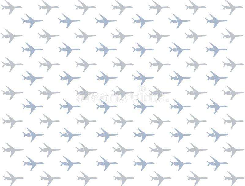 Horisontalflygplansymboler med turbiner ror av blå grå pastell royaltyfri illustrationer