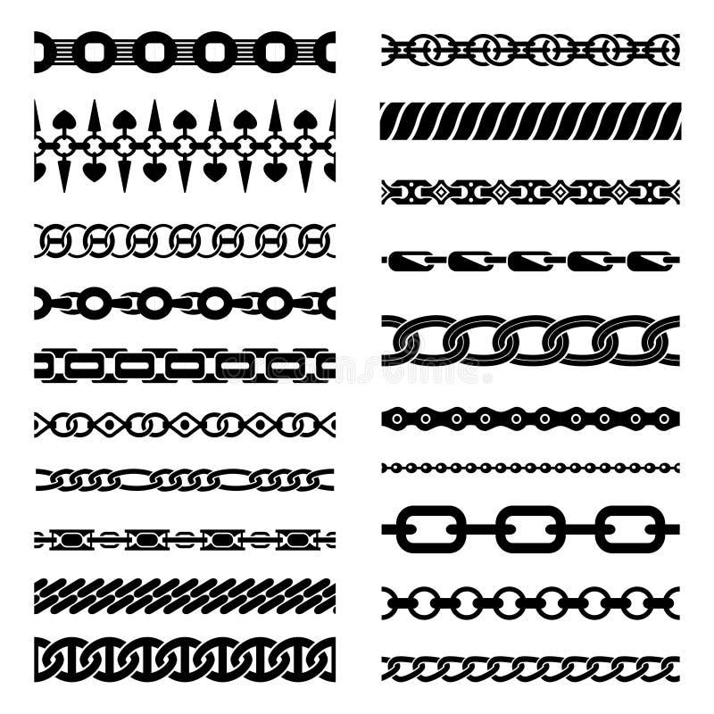 Horisontalkedjesamling vektor illustrationer