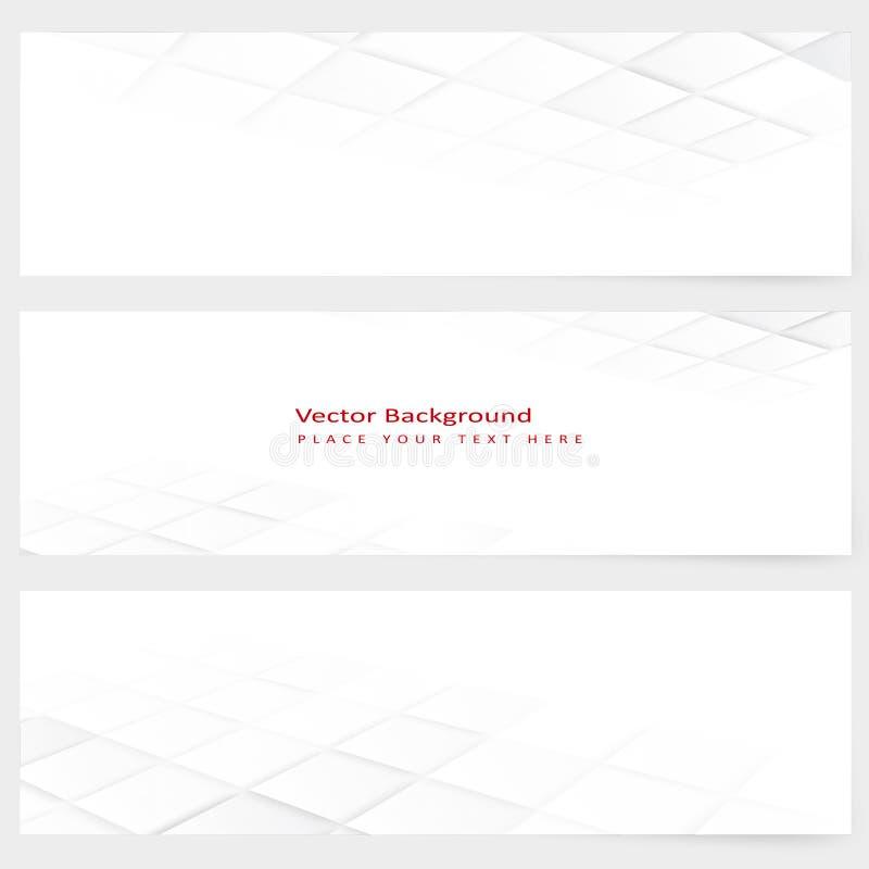 Horisontalperspektivbaner för abstrakt mall stock illustrationer
