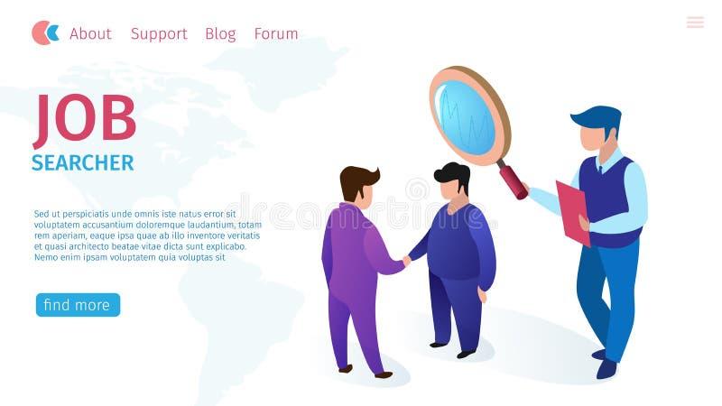 Horisontalplant baner för jobbSearcheravdrag vektor illustrationer
