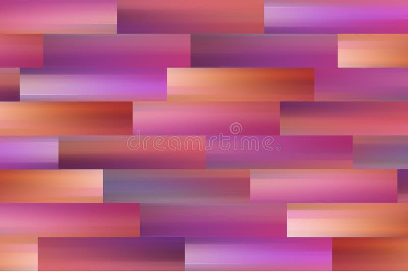 Horisontalrektangel för väggen royaltyfri illustrationer