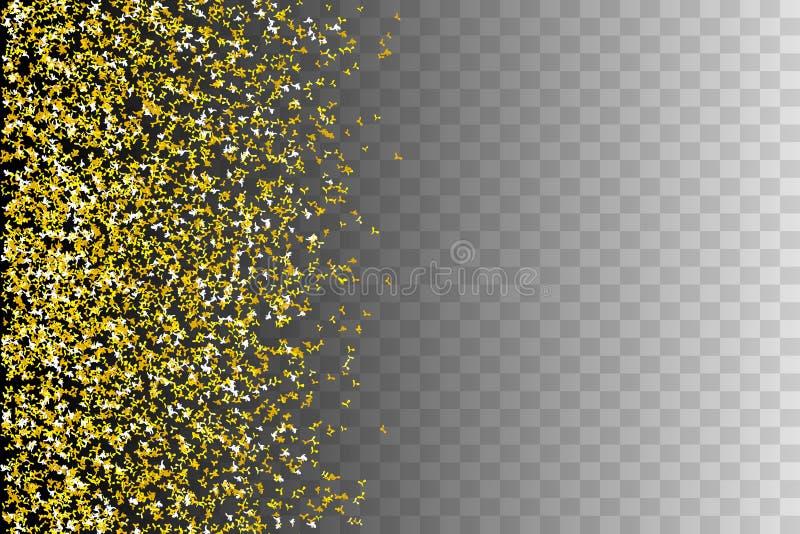 Horisontalsömlösa modellkonfettier vektor illustrationer