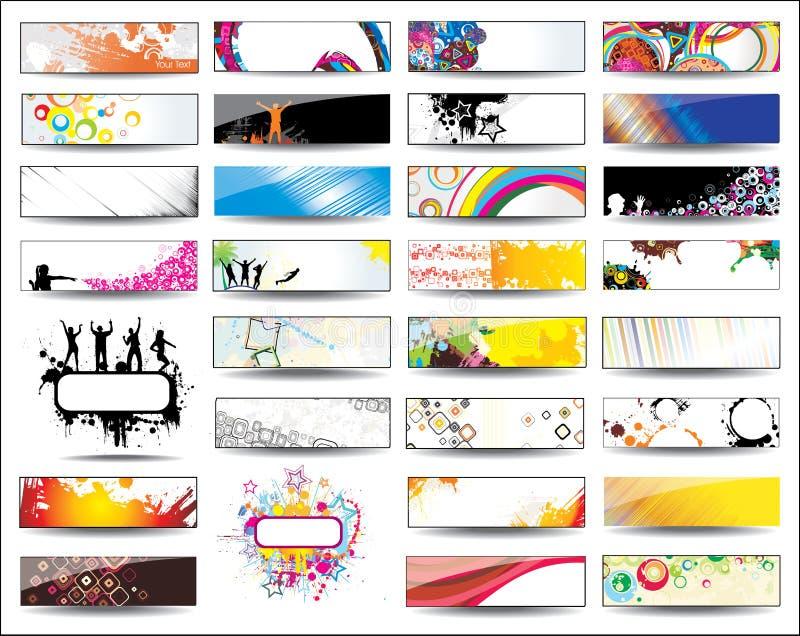 horisontalsamlingstitelrader stock illustrationer
